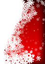 Stars And Snowflakes On Red Background Royalty Free Stock Images - 7310839