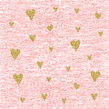 Vector Gold Glittering Heart Seamless Pattern Stock Images - 73107374