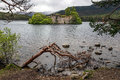 LOCH AN EILEIN, NEAR AVIEMORE/SCOTLAND - MAY 16 : Castle In The Stock Images - 73126534