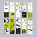 Olive Oil Labels Collection Royalty Free Stock Photo - 73130495