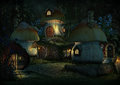 Imps Village By Night, 3d CG Stock Photo - 73142520