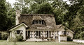 Typical French Countryside House With Thatch Roof Stock Photo - 73152070