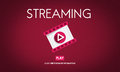 Streaming Audio Video Listening Multimedia Concept Royalty Free Stock Photography - 73155857