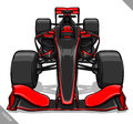 Front View Vector Fast Cartoon Formula Race Car Illustration Art Royalty Free Stock Photo - 73163875