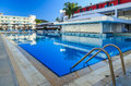 Large Swimming Pool With Bar At A Luxury Tropical Hotel Resort Stock Photo - 73186210