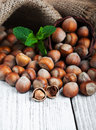 Basket With Hazelnuts Royalty Free Stock Images - 73186489