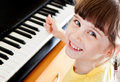 Small Girl With Piano Royalty Free Stock Photos - 73188858