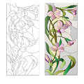 Floral Stained-glass Pattern Royalty Free Stock Photography - 73189047