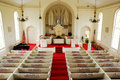 Interior Of The Classic Greenfield Hill Congregational Church, Connecticut Stock Image - 73196021