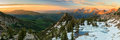 Alpine Sunrise Panorama In The Wasatch Mountains. Stock Photography - 73197712