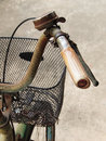 Close Up Photo Of Old, Dirty And Rusty Bicycle Handlebar. Stock Image - 73198051
