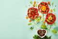 Cute Flowers Made Of Fresh Organic Vegetables Stock Photography - 73201842