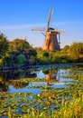 Windmill In Holland, Kinderdijk, Netherlands Stock Photos - 73210723