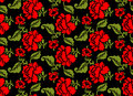 Red Rose Seamless Pattern. Floral Texture. Russian Folk Ornament Royalty Free Stock Image - 73220516