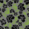 Black Rose Seamless Pattern. Retro Floral Texture. Royalty Free Stock Image - 73220796