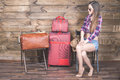 Young Woman Already Packed Her Things, Clothes At Luggage, Suitcase Stock Photo - 73233390
