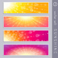 Summertime Sky Banners Royalty Free Stock Photography - 73243927