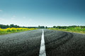 Road View On Sunny Spring Day Stock Photos - 73252353