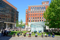 Lunchtime In Brindleyplace, Birmingham. Stock Photo - 73260510