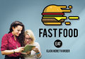 Fastfood Burger Junk Meal Takeaway Calories Concept Stock Photography - 73268142