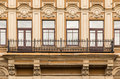 Windows In A Row And Balcony On Facade Of Office Building Royalty Free Stock Image - 73283736