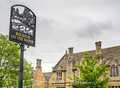 Sign Of Bourton On The Water Town Royalty Free Stock Images - 73285299