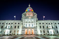 The Exterior Of The Rhode Island State House At Night, In Provid Stock Photos - 73295783