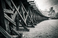 Trestle And Field Black And White Royalty Free Stock Images - 73296459