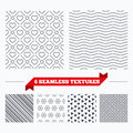Hearts Stripped Geometric Seamless Pattern. Royalty Free Stock Photography - 73298057