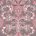 Abstract Oriental Floral Seamless Pattern. Flower Geometric Orna Royalty Free Stock Photography - 73300327