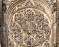 Rose Window At Cathedral Of Saint Vitus Royalty Free Stock Image - 73312936