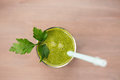 Green Healthy Smoothie With Spinach, Green Apple And Celery Stock Photos - 73327883