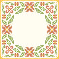 Cross-stitch Embroidery - Flowers And Leaves Royalty Free Stock Photos - 73332638