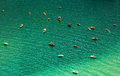 Aerial View Of Boats In The Lake Stock Photos - 73349523