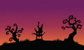 Tree Monster Halloween Silhouette Backgrounds Stock Images - 73353394