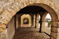 Medieval Arcades In The Village Of San Daniele, Friuli, Italy Royalty Free Stock Image - 73373486