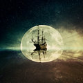 Ghost Ship Royalty Free Stock Photo - 73374135