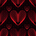 Love Nine Red Line Seamless Pattern Royalty Free Stock Photography - 73382687