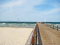 Pier Of Scharbeutz, Baltic Sea, Germany Royalty Free Stock Photography - 73384017