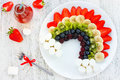 Fruit Rainbow Healthy Raw Dessert For Kids Stock Images - 73389924