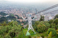 Aerial Tramway And Bogota, Colombia Stock Image - 73398341