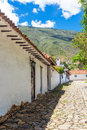 Colonial Street And Cobblestone Stock Photos - 73398403