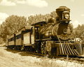Historic Steam Train In Sepia Royalty Free Stock Photo - 73398595
