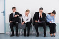 Businesspeople Waiting For Job Interview Royalty Free Stock Photos - 73410498