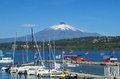 Harbour In Villarica Village, On The Lake Near Volcano Stock Photo - 73412420
