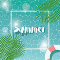 Swimming Pool, Top View, Typographic Hello Summer Message, Summer Message, Summer Time Vacation Stock Image - 73428521