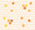 Seamless Honey Pattern With Outlined Honey Cells Stock Photos - 73438723
