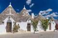 Beautiful Town Of Alberobello With Trulli Houses, Main Turistic District, Apulia Region, Southern Italy Stock Photography - 73462982