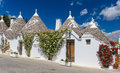Beautiful Town Of Alberobello With Trulli Houses, Main Turistic District, Apulia Region, Southern Italy Stock Image - 73463131