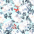 Flower Pattern With Tropical Plants. A Watercolor For Flower Des Royalty Free Stock Photography - 73466467